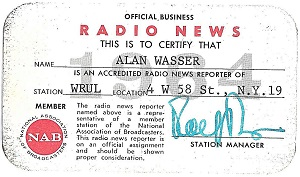 WRUL press card