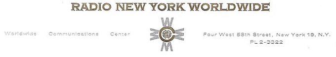 Radio New York Worldwide letterhead